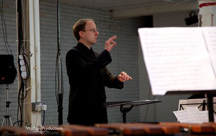 Photograph of James Weeks, conducting